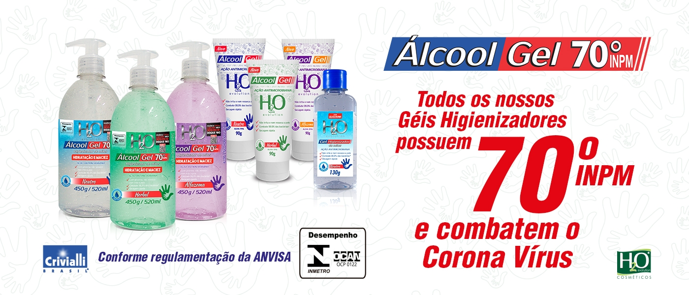 ALCOOL GEL H2O COSMÉTICOS