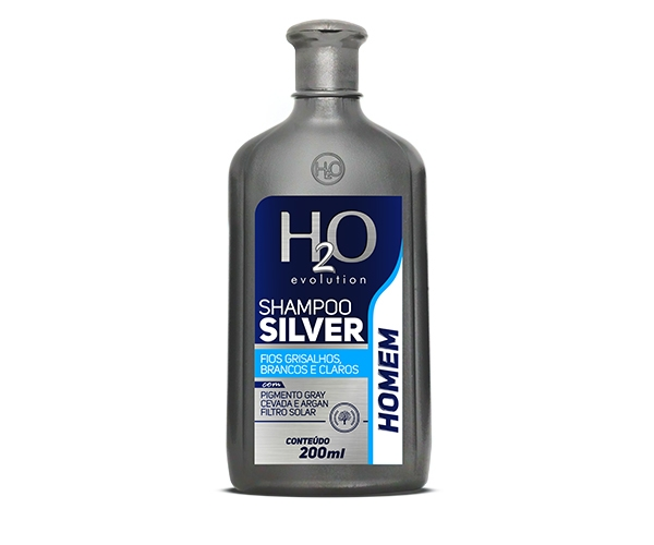 Shampoo Silver 200ml - Fios Grisalhos, Brancos e Claros